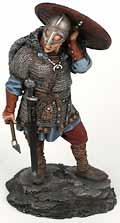 Оловянный солдатик. Викинг со щитом. 75 мм.