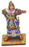 Оловянный солдатик. Монгольский военачальник. 54 мм.