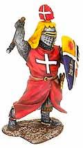 Оловянный солдатик. Средневековый рыцарь в плаще. 54 мм.